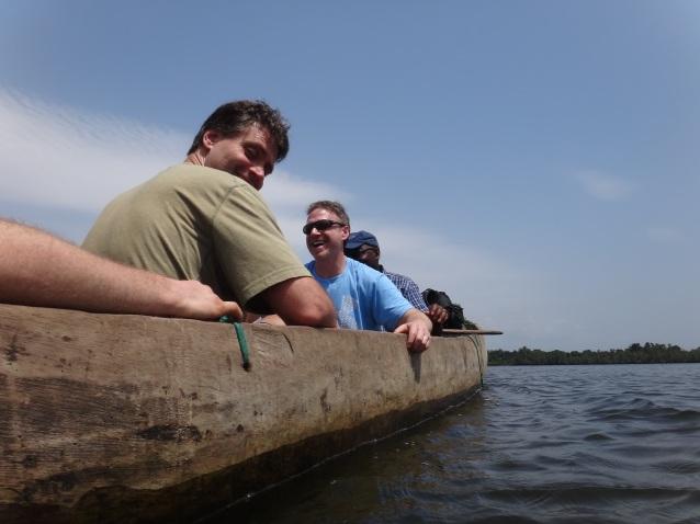 Canoe trip across the Cestos River