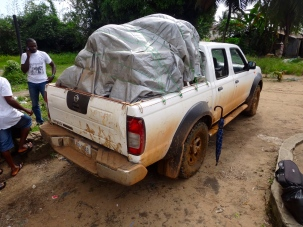 Carrying load of medicine and supplies