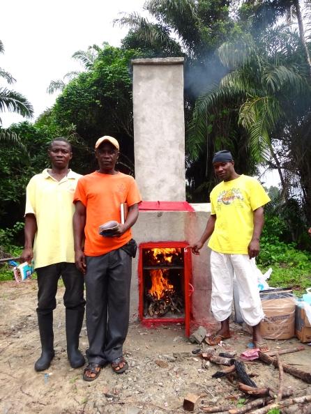 Burning medical waste
